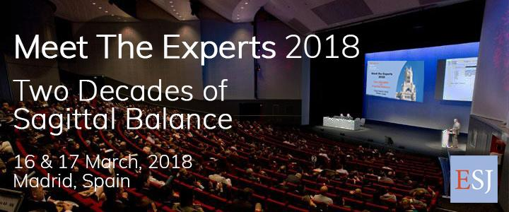 ESJ Meet the Experts 2018 - Sagittal Balance - 16, 17 March, 2018 in Madrid